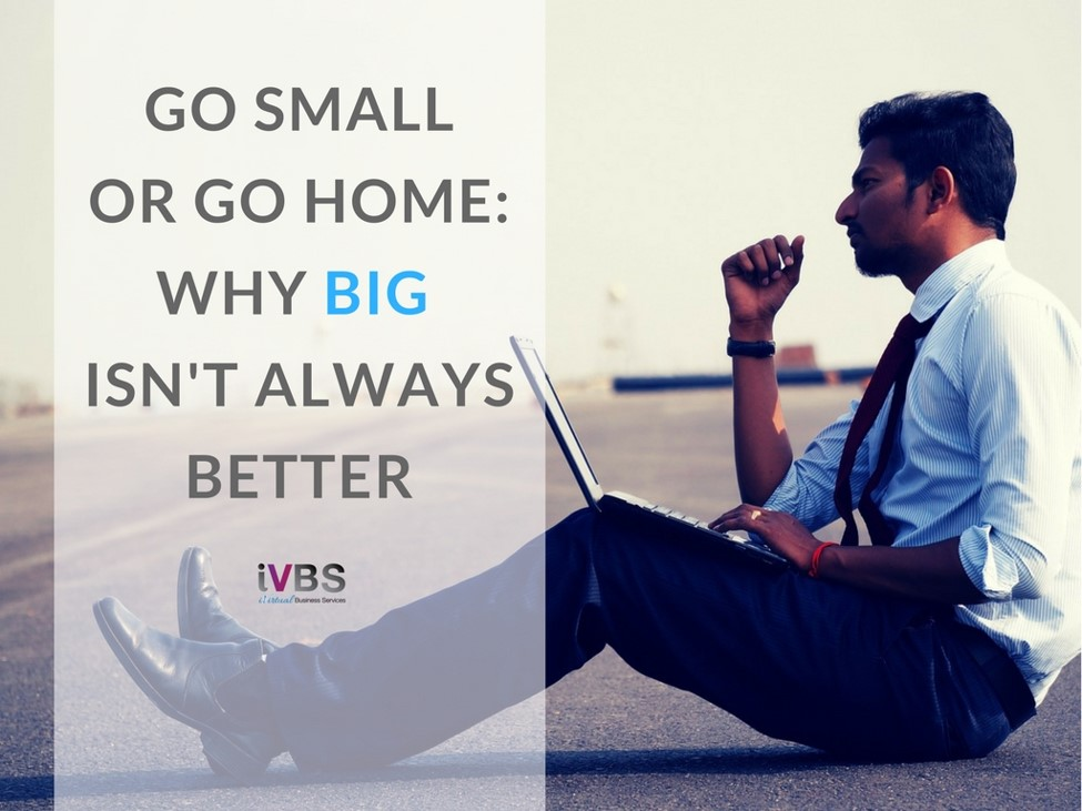 "Go Small or Go Home: Why ""Big"" Isn't Always Better - iVirtual Business Services"